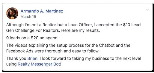 Lead Gen Challenge - Realty Messenger Bot - ManyChat Real Estate